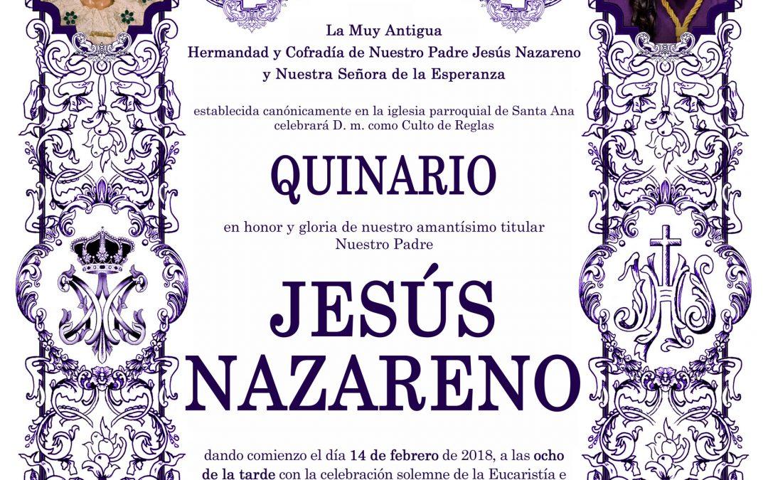 Solemne Quinario a Nuestro Padre Jesús Nazareno