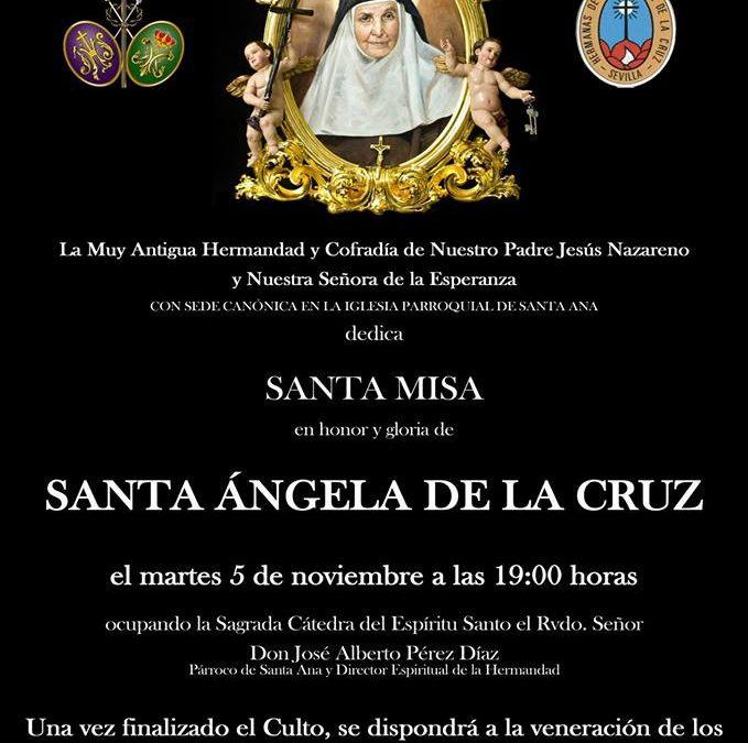 Santa Misa en honor y gloria de Santa Ángela de la Cruz