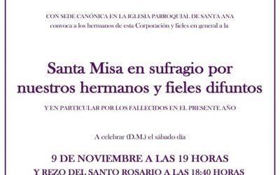 Santa Misa en honor de nuestro hermanos difuntos